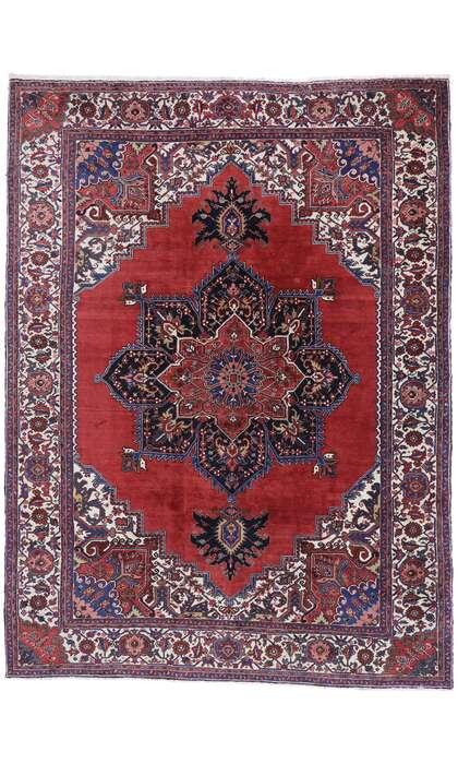10 x 13 Antique Persian Heriz Rug 77628