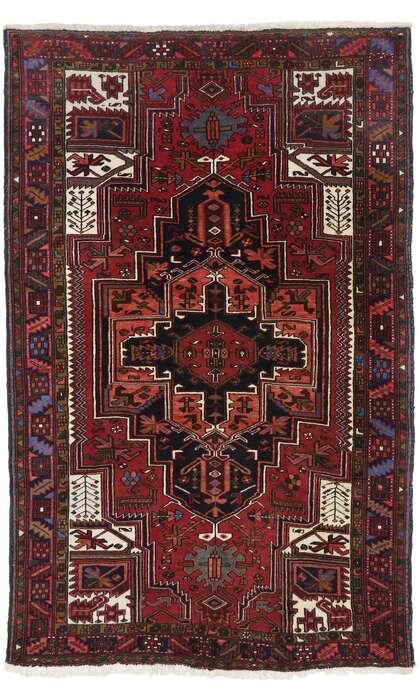5 x 8 Antique Persian Heriz Rug 77641