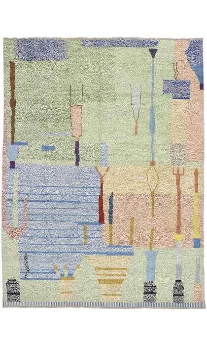 10 x 14 Contemporary Moroccan Rug 80665