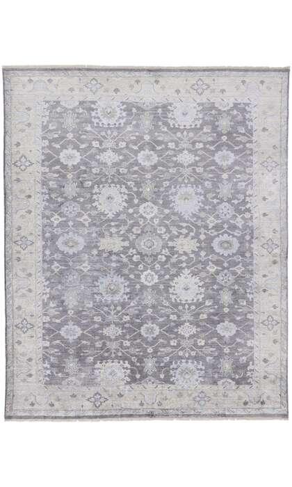 8 x 10 Contemporary Indo-Oushak Silk Rug 30247