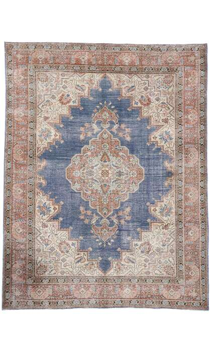 5 x 7 Distressed Antique Persian Tabriz Rug 60876