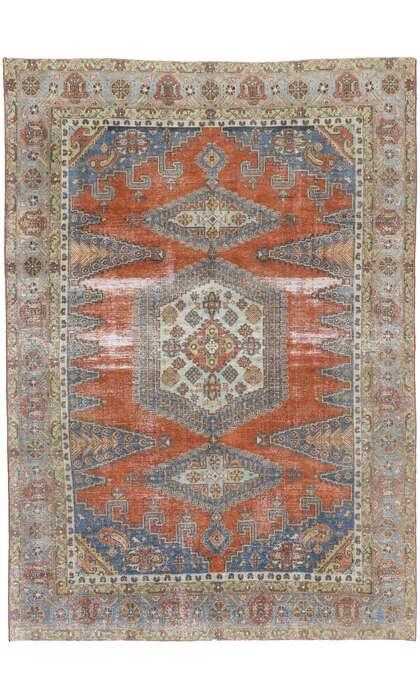 8 x 12 Antique Persian Viss Rug 60880