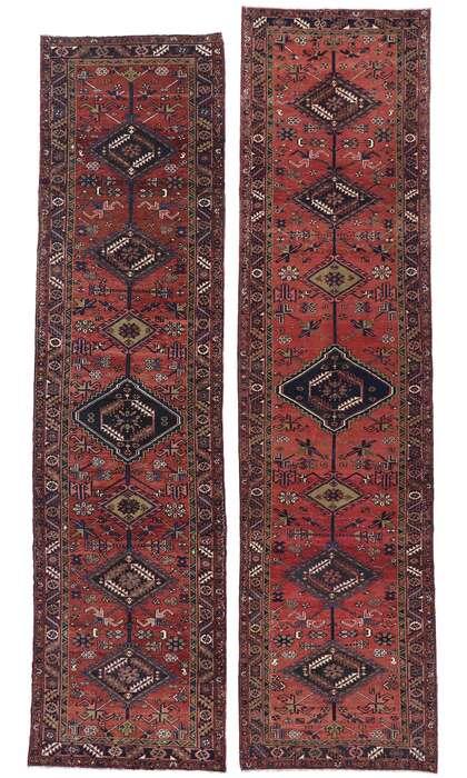 4 x 14 Vintage Persian Heriz Runner 60883