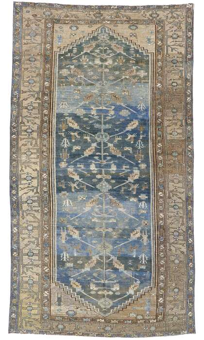 7 x 13 Antique Persian Malayer Rug 60885