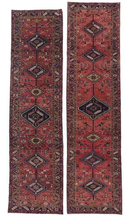4 x 14 Vintage Persian Heriz Runner 60887