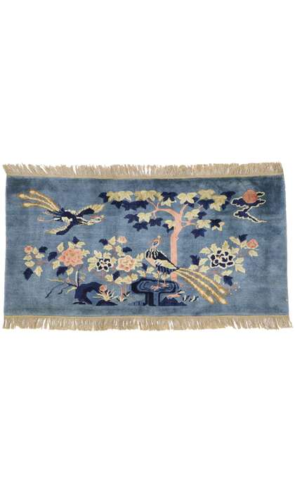 2 x 5 Antique Chinese Art Deco Pictorial Rug 77585