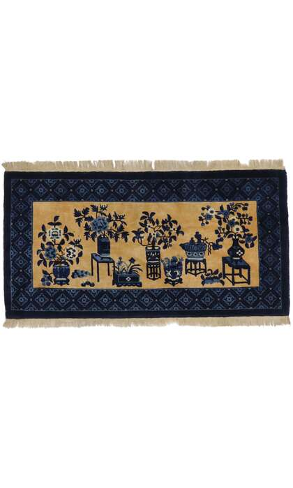 2 x 5 Vintage Chinese Baotou Pictorial Rug 77593
