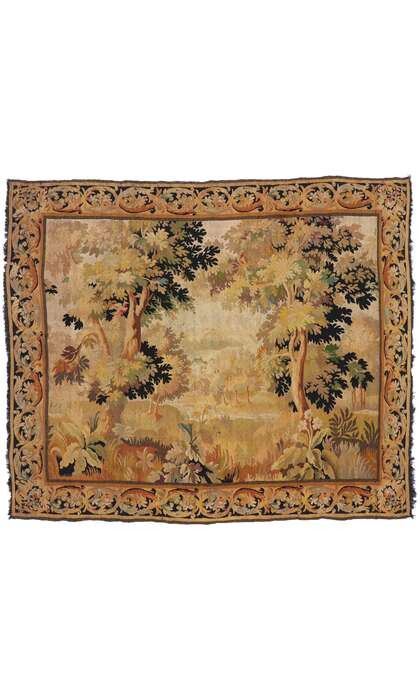 7 x 8 Antique French Aubusson Tapestry 77650