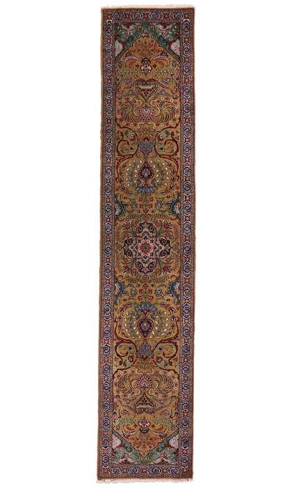 3 x 14 Vintage Persian Tabriz Runner 77661