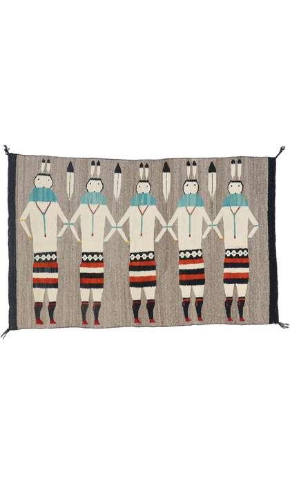 3 x 4 Vintage Navajo Yeibichai Rug 77768