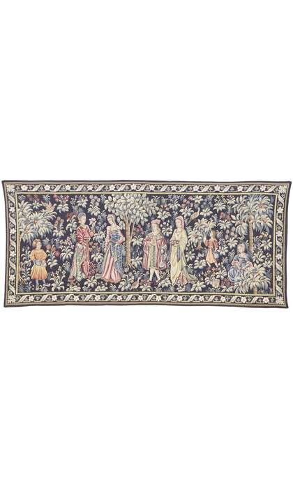 2 x 5 Vintage French Medieval Tapestry 77769