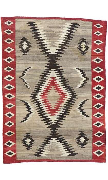 4 x 6 Antique Navajo Kilim Rug 77803