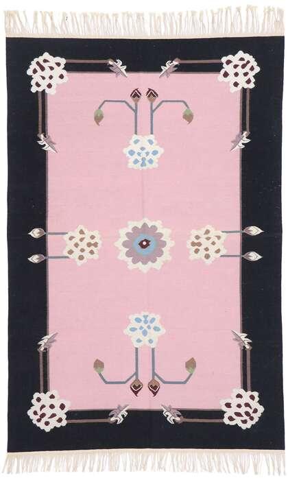 4 x 6 Vintage Floral Kilim Rug 77814