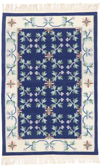 4 x 6 Vintage Floral Kilim Rug 77815