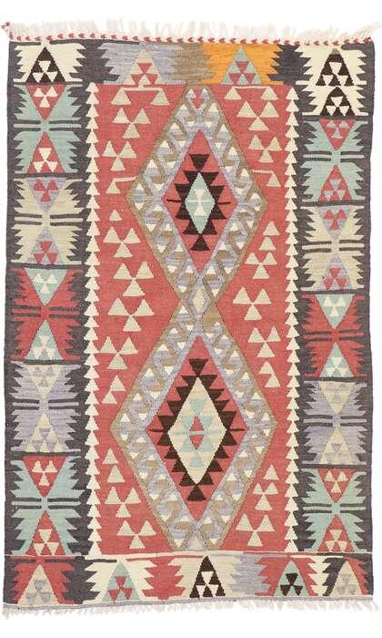 3 x 5 Vintage Persian Shiraz Kilim Rug 77833