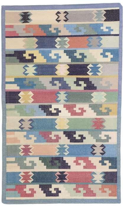 3 x 5 Vintage Persian Shiraz Kilim Rug 77834