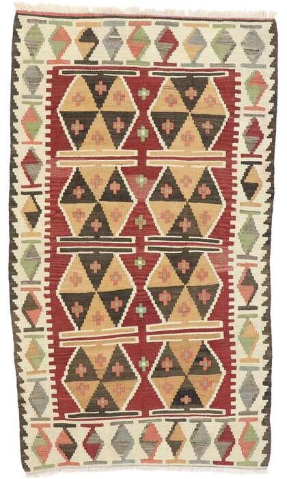 3 x 5 Vintage Persian Shiraz Kilim Rug 77835