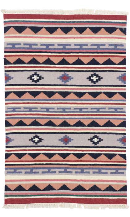 3 x 5 Vintage Persian Shiraz Kilim Rug 77836