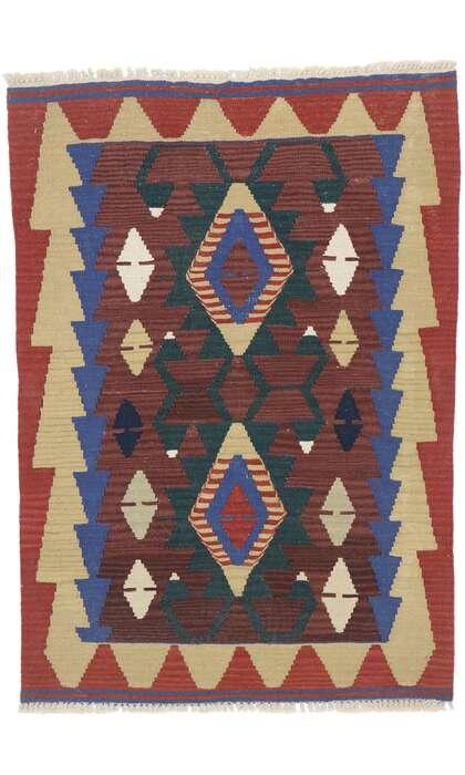 3 x 4 Vintage Persian Shiraz Kilim Rug 77837
