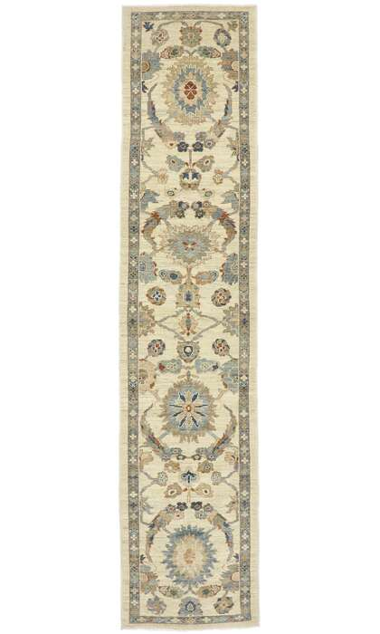 3 x 14 New Contemporary Persian Sultanabad Runner 60914