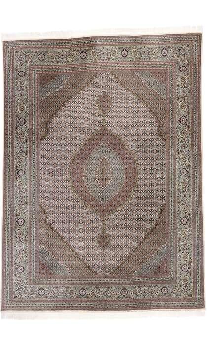 8 x 11 Vintage Persian Mahi Tabriz Rug 77791