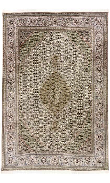 7 x 10 Vintage Persian Mahi Tabriz Rug 77792