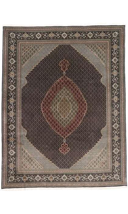 10 x 13 Vintage Persian Mahi Tabriz Rug 77793