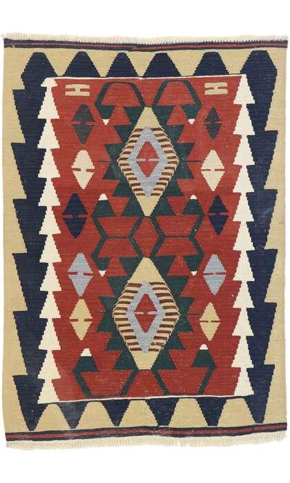 3 x 4 Vintage Persian Shiraz Kilim Rug 77839