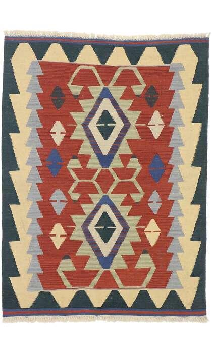 3 x 4 Vintage Persian Shiraz Kilim Rug 77840