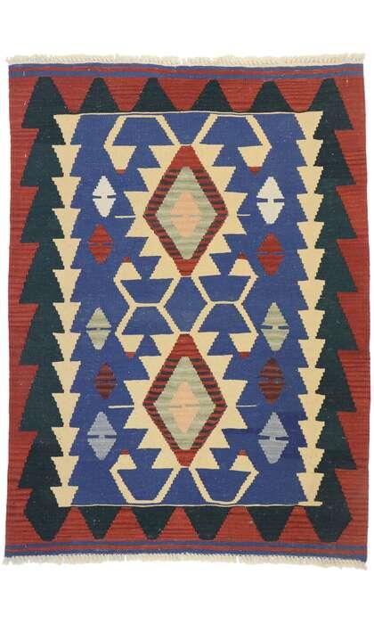 3 x 4 Vintage Persian Shiraz Kilim Rug 77841