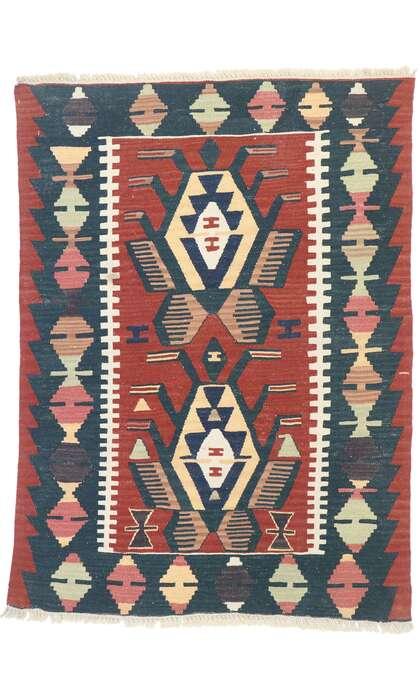 3 x 4 Vintage Persian Shiraz Kilim Rug 77843