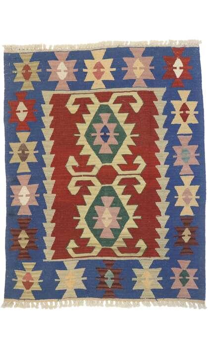 3 x 4 Vintage Persian Shiraz Kilim Rug 77845