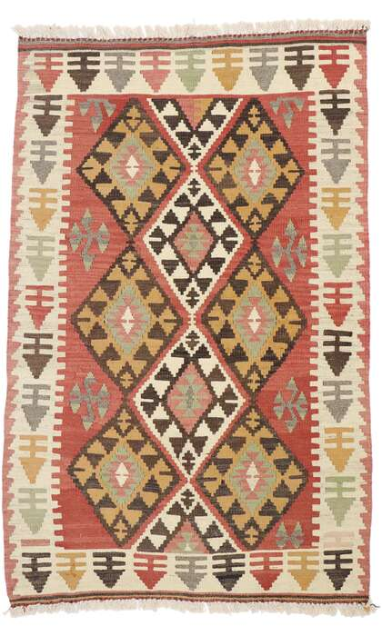 3 x 5 Vintage Persian Shiraz Kilim Rug 77847