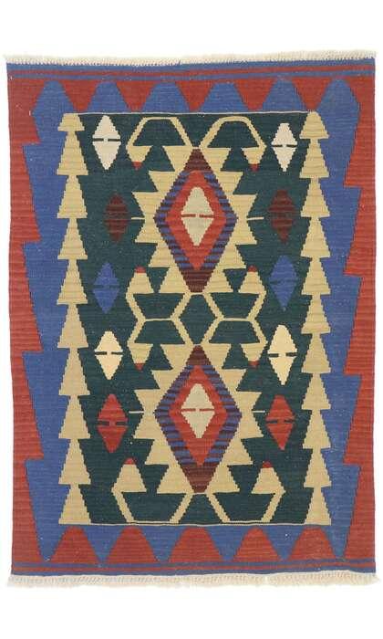3 x 4 Vintage Persian Shiraz Kilim Rug 77848