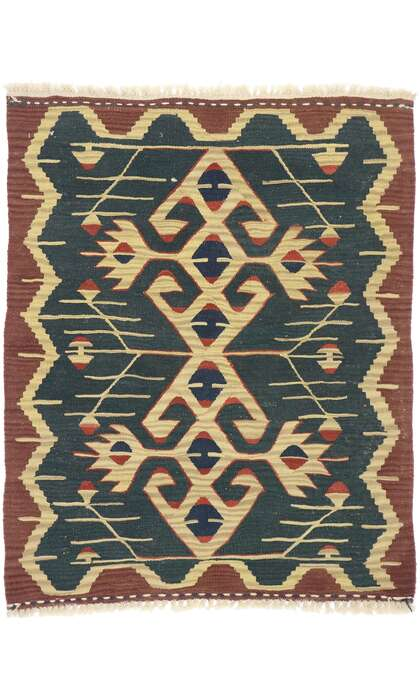 3 x 4 Vintage Persian Shiraz Kilim Rug 77851