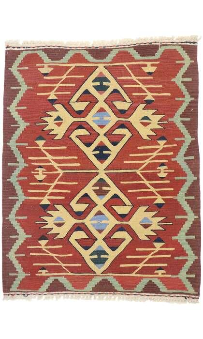 3 x 4 Vintage Persian Shiraz Kilim Rug 77853