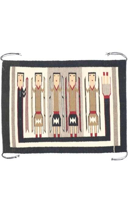2 x 3 Vintage Navajo Yeibichai Kilim Rug 77871