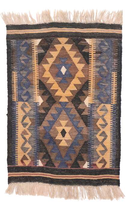 2 x 3 Vintage Persian Shiraz Kilim Rug 77876
