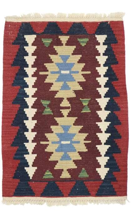 2 x 3 Vintage Persian Shiraz Kilim Rug 77910