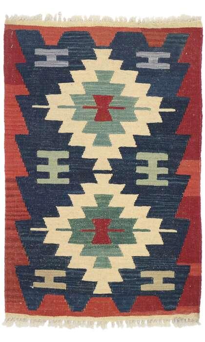 2 x 3 Vintage Persian Shiraz Kilim Rug 77911