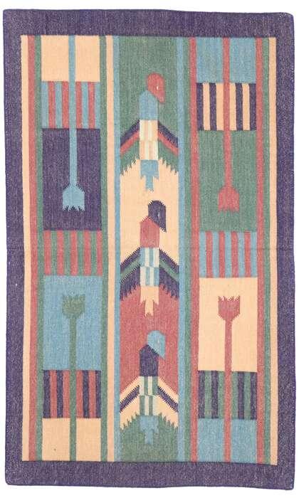 2 x 3 Vintage Indian Dhurrie Rug 77913