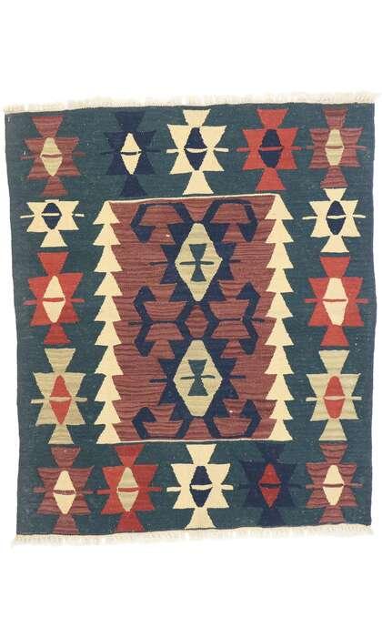 3 x 4 Vintage Persian Shiraz Kilim Rug 77914