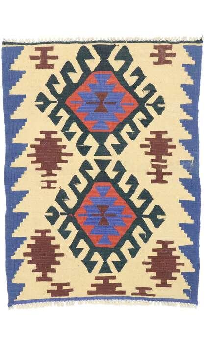 3 x 4 Vintage Persian Shiraz Kilim Rug 77916