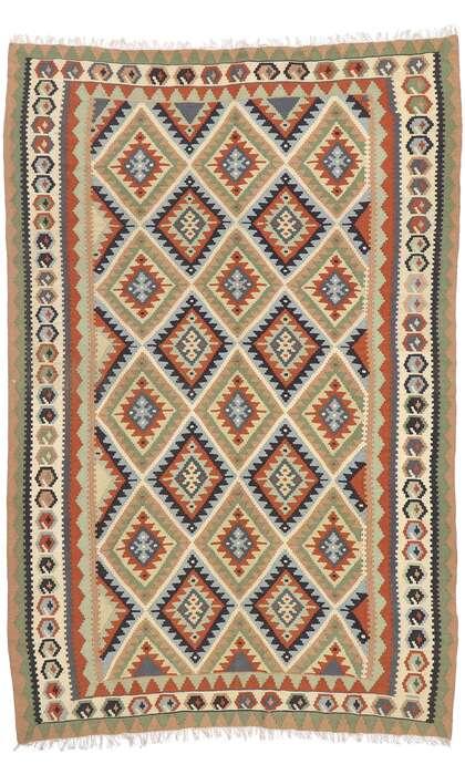 7 x 10 Vintage Persian Shiraz Kilim Rug 77919