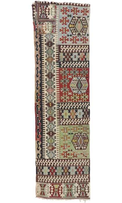3 x 10 Vintage Persian Shiraz Kilim Runner 77924
