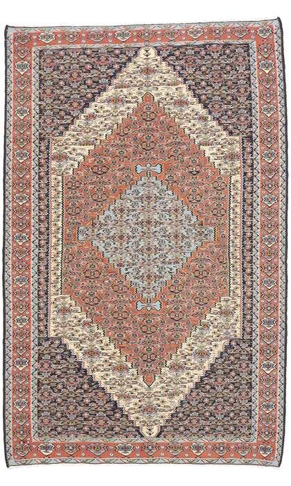 5 x 8 Vintage Persian Senneh Kilim Rug 77929