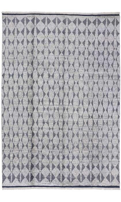 9 x 13 Contemporary Gray Moroccan Rug 30354
