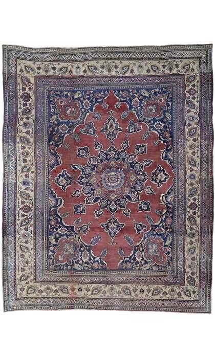 13 x 17 Antique Persian Mashhad Rug 77662