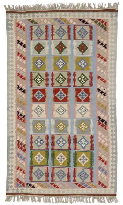 4 x 7 Vintage Persian Shiraz Kilim Rug 77930