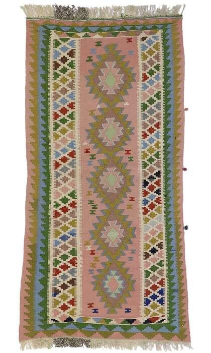 3 x 6 Vintage Persian Shiraz Kilim Rug 78024